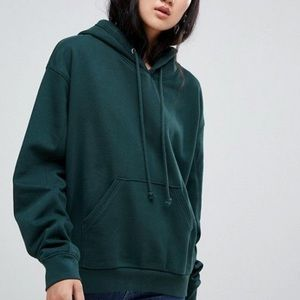 Weekday forest green hoodie XS